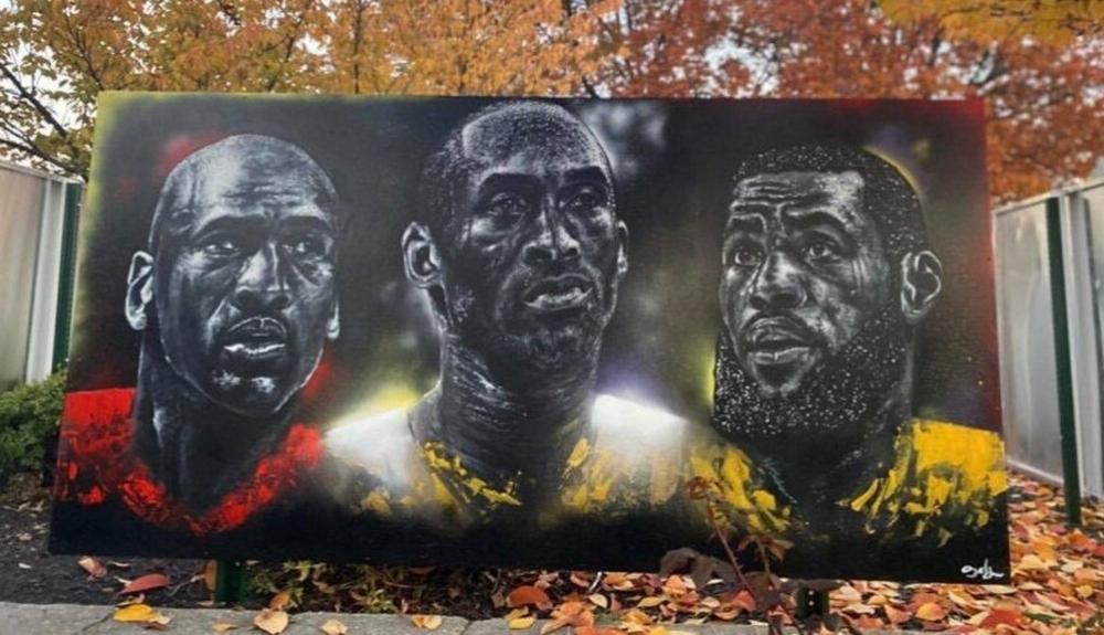 NBA: Απίθανο γκράφιτι με Τζόρνταν, Κόμπι και Λεμπρόν (photos)(4)