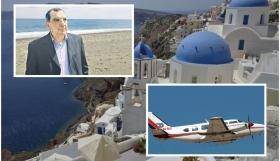 """Δήμαρχος Θήρας: """"Πτήσεις αντιπολιτευτικού παραλογισμού και απελπισίας – Η αλήθεια για το αεροσκάφος του Ιδρύματος Λούλας& Ευαγγέλου Νομικού"""""""