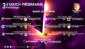 Volley League γυναικών (3η αγωνιστική): Ντέρμπι σε Θεσσαλονίκη και Νάξο
