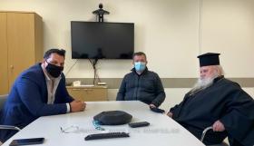 Επίσκεψη στο Γενικό Νοσοκομείο Σαντορίνης  ο Μητροπολίτης Θήρας